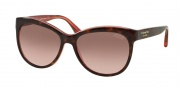 Coach HC8055 Sunglasses Samantha Sunglasses - 511514 Tortoise Pink / Brown Rose Gradient