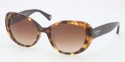 Coach HC8049F Sunglasses Sunglasses - 504513 Spotty Tortoise / Brown Gradient