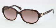 Coach HC8039 Sunglasses Annette Sunglasses - 500114 Dark Tortoise / Brown Gradient Pink