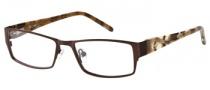 Candies C Omega Eyeglasses Eyeglasses - BRN: Matte Brown