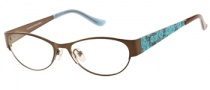 Candies C Cayla Eyeglasses Eyeglasses - BRN: Matte Brown