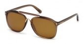 Tom Ford FT0300 Cade Sunglasses Sunglasses - 50H Dark Brown / Brown Polarized