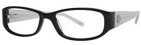 Adrienne Vittadini AV 1006 Eyeglasses Eyeglasses - Black / Pearl