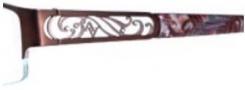 Adrienne Vittadini AV1108 Eyeglasses Eyeglasses - Semi Matte Red