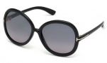Tom Ford FT0276 Candice Sunglasses Sunglasses - 01B Shiny Black / Gradient Smoke