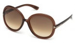 Tom Ford FT0276 Candice Sunglasses Sunglasses - 50F Dark Brown / Gradient Brown