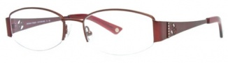 Adrienne Vittadini AV 1018 Eyeglasses Eyeglasses - Dark Red