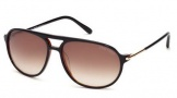 Tom Ford FT0255 John Sunglasses Sunglasses - 01B Shiny Black / Gradient Smoke