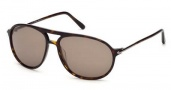 Tom Ford FT0255 John Sunglasses Sunglasses - 52J Dark Havana