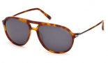 Tom Ford FT0255 John Sunglasses Sunglasses - 53A Blonde Havana / Smoke
