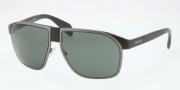 Prada PR 21PS Sunglasses Sunglasses - 1BO301 Black Demi Shiny Matte Gunmetal / Gray Green