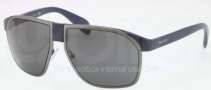 Prada PR 21PS Sunglasses Sunglasses - MA31A1 Matte Blue Matte Gunmetal / Gray Gradient