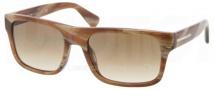 Prada PR 18PS Sunglasses Sunglasses - MAQ0B3 Light Horn / Crystal Brown Gradient