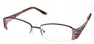 Adrienne Vittadini AV1058 Eyeglasses Eyeglasses - Burgundy