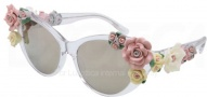 Dolce & Gabbana DG4180 Sunglasses Sunglasses - 656/6G Crystal / Brown Mirror Gold