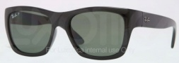 Ray Ban RB4194 Sunglasses Sunglasses - 601/9A Black / Polarized Green