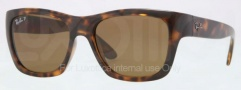 Ray Ban RB4194 Sunglasses Sunglasses - 710/83 Light Havana / Polarized Brown