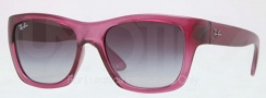 Ray Ban RB4194 Sunglasses Sunglasses - 602971 Pink / Crystal Gray Gradient Azure