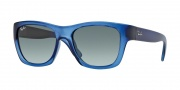 Ray Ban RB4194 Sunglasses Sunglasses - 603171 Blue Demi Gloss / Crystal Grey Gradient Azure