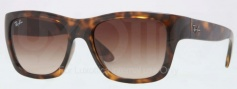Ray Ban RB4194 Sunglasses Sunglasses - 710/85 Light Havana / Gradient Brown