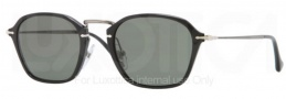 Persol PO3047S Sunglasses Sunglasses - 95/58 Black / Crystal Green Polarized
