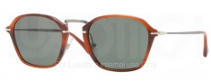 Persol PO3047S Sunglasses Sunglasses - 957/31 Brown / Crystal Green