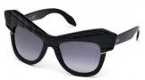 Roberto Cavalli RC750S Wild Diva Sunglasses Sunglasses - 01B Shiny Black / Gradient Smoke