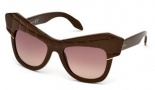 Roberto Cavalli RC750S Wild Diva Sunglasses Sunglasses - 48F Shiny Dark Brown / Gradient Brown