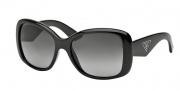 Prada PR 32PS Sunglasses Sunglasses - 1AB5W1 Black / Polarized Gray