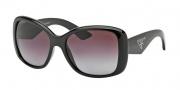 Prada PR 32PS Sunglasses Sunglasses - 1AB2A0 Black / Gradient Violet Polarized