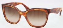 Prada PR 20PS Sunglasses Sunglasses - NAK651 Top Havana / Brown Gradient