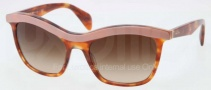 Prada PR 19PS Sunglasses Sunglasses - LAV0A6 Top Pink Light Havana / Brown Gradient