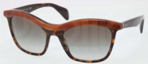 Prada PR 19PS Sunglasses Sunglasses - MA40A7 Top Light Havana / Gray Gradient
