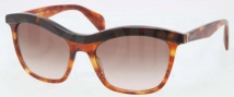 Prada PR 19PS Sunglasses Sunglasses - NAK651 Top Havana / Brown Gradient