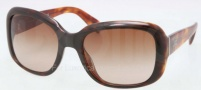 Prada PR 17PS Sunglasses Sunglasses - NAK651 Top Havana / Brown Gradient