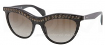 Prada PR 04PS Sunglasses Sunglasses - 1AB1X1 Black / Brown Gradient