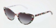 Dolce & Gabbana DG4202 Sunglasses Sunglasses - 27808G Top White Flowers / Gray Gradient Lens