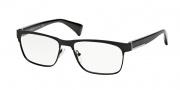 Prada PR 61PV Eyeglasses Eyeglasses - FAD101 Matte Black / Demo Lens