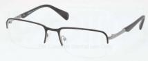Prada PR 59QV Eyeglasses Eyeglasses - 1BO101 Matte Black Gunmetal