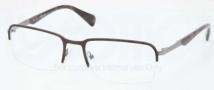 Prada PR 59QV Eyeglasses Eyeglasses - LAH101 Matte Brown Gunmetal