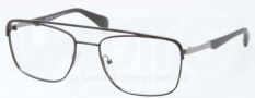 Prada PR 58QV Eyeglasses Eyeglasses - 1BO101 Matte Black Gunmetal