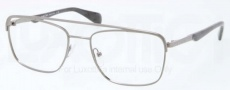 Prada PR 58QV Eyeglasses Eyeglasses - 75S101 Brushed Gunmetal