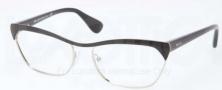 Prada PR 57QV Eyeglasses Eyeglasses - GAQ101 Black Silver