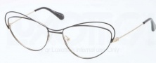 Prada PR 56QV Eyeglasses Eyeglasses - QE3101 Black / Brushed Pale Gold