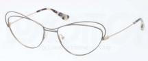 Prada PR 56QV Eyeglasses Eyeglasses - QE5101 Beige / Brushed Pale Gold