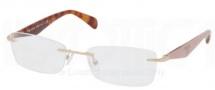 Prada PR 55PV Eyeglasses Eyeglasses - LAV101 Pale Gold