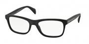 Prada PR 19PV Eyeglasses Eyeglasses - 1BO101 Matte Black
