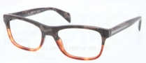Prada PR 19PV Eyeglasses Eyeglasses - QE1101 Brown Transparent