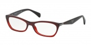 Prada PR 15PV Eyeglasses Eyeglasses - MAX101 Bordeaux Gradient Red