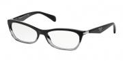 Prada PR 15PV Eyeglasses Eyeglasses - ZYY101 Black Gradient Transparent